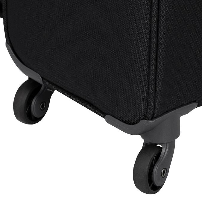 Čierny  textilný kufor na kolieskach samsonite, čierna, 960-6041 - 16