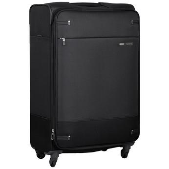 Čierny  textilný kufor na kolieskach samsonite, čierna, 960-6041 - 13