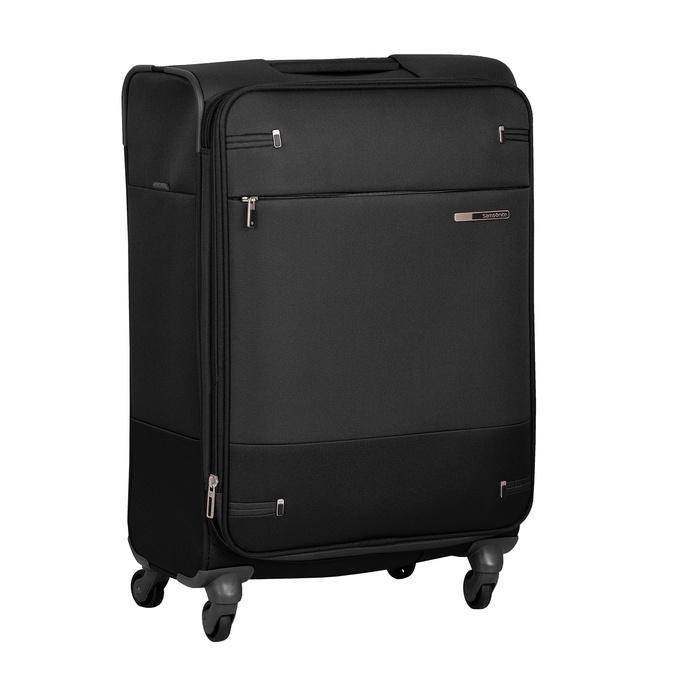 Čierny textilný kufor samsonite, čierna, 960-6039 - 13