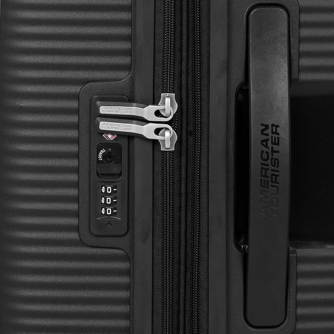 Čierny pevný kufor na kolečkách american-tourister, čierna, 960-6614 - 15