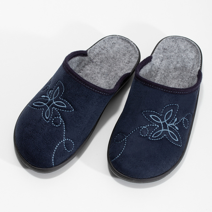 Dámska domáca obuv modrá bata, modrá, 579-9621 - 16
