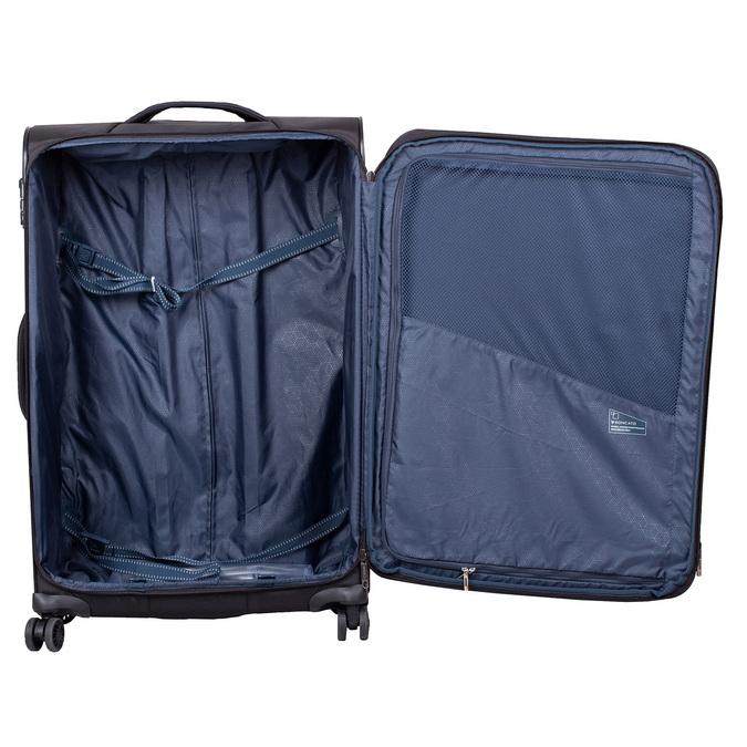 Stredně veľký textilný kufor na kolieskach roncato, čierna, 969-6710 - 17