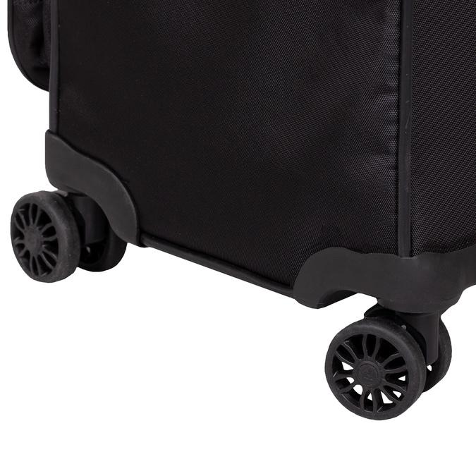 Stredně veľký textilný kufor na kolieskach roncato, čierna, 969-6710 - 16