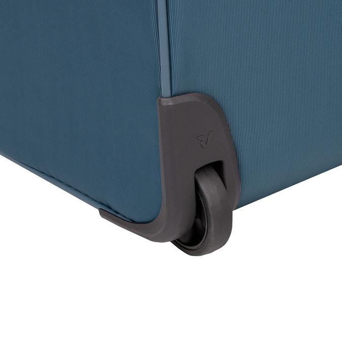 Veľký tyrkysový textilný kufor na kolieskach roncato, modrá, 969-9719 - 16
