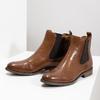 Kožená hnedá dámska Chelsea obuv bata, hnedá, 594-4636 - 16