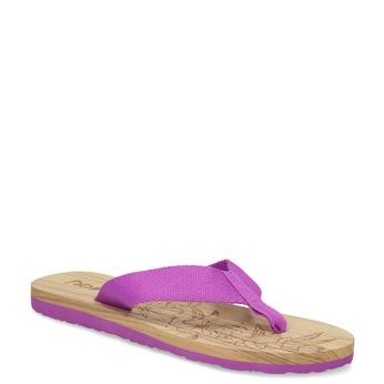 Dámske fialové žabky pata-pata, fialová, 579-5630 - 13