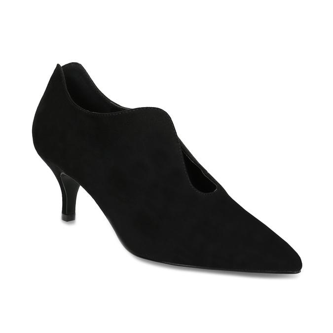 Čierne dámske lodičky s vykrojením insolia, čierna, 629-6648 - 13