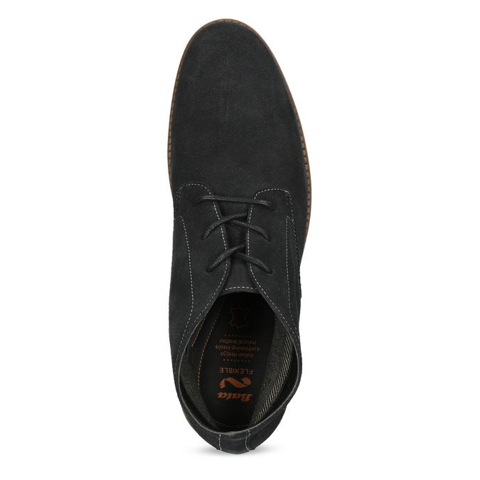 Pánska členková modrá kožená obuv flexible, modrá, 823-2632 - 17