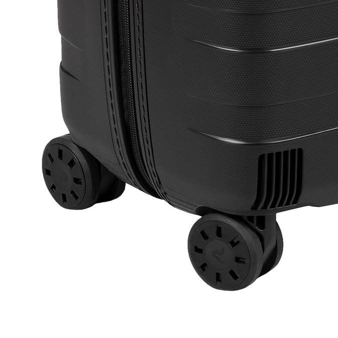 Malý škrupinový kufor na kolieskach roncato, čierna, 960-9728 - 16