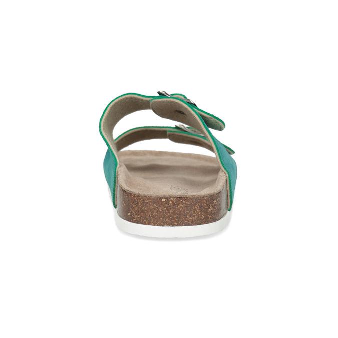 Tyrkysové kožené dámske nazuváky de-fonseca, 573-9621 - 15