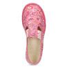 Ružové dievčenské prezuvky so vzorom bata, ružová, 179-5213 - 17