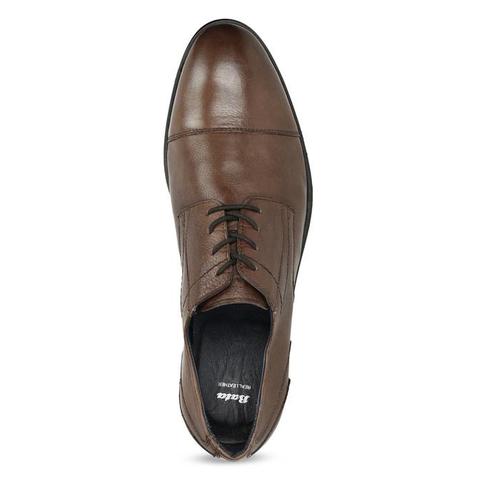 Pánske kožené hnedé Derby poltopánky bata, hnedá, 826-3782 - 17