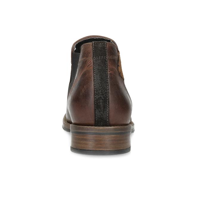 Pánske hnedé Chelsea kožené bata, hnedá, 826-4502 - 15