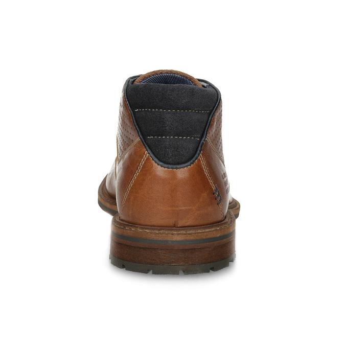 Hnedá členková kožená pánska obuv bata, hnedá, 826-3505 - 15