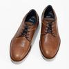 Kožené hnedé pánske poltopánky bata, hnedá, 826-3506 - 16