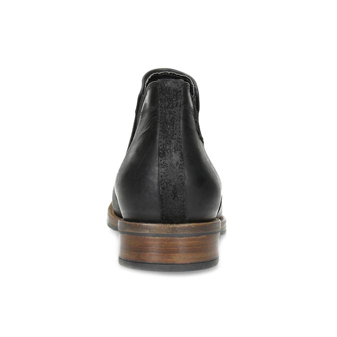 Pánske čierne Chelsea kožené bata, čierna, 826-6504 - 15