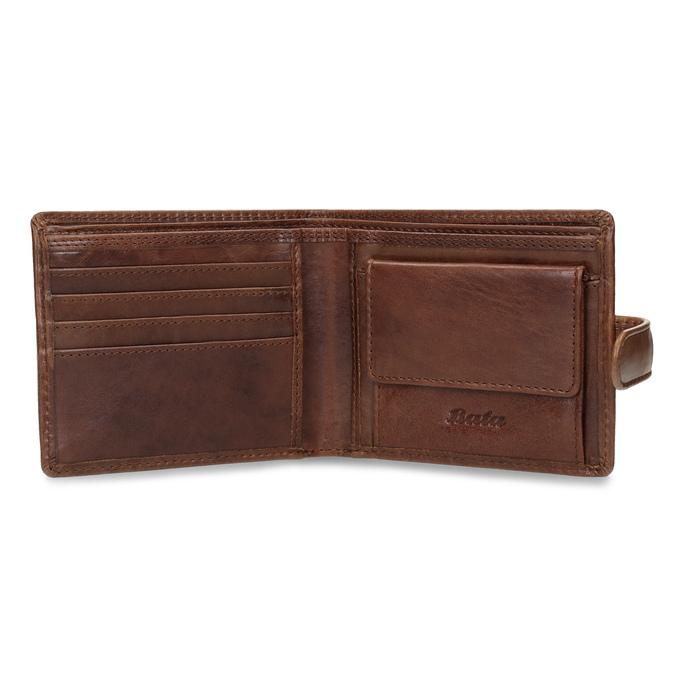 Pánska kožená hnedá peňaženka bata, hnedá, 944-3202 - 15