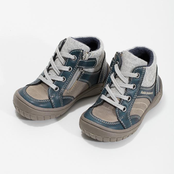 Detská členková obuv s teplou podšívkou bubblegummers, šedá, 111-2627 - 16