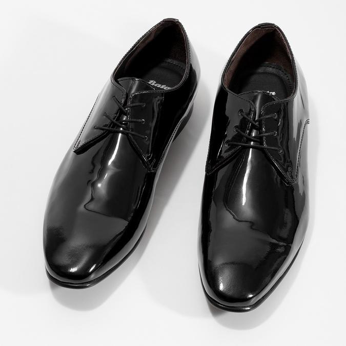 Pánske Derby poltopánky z lakovanej kože bata, čierna, 828-6606 - 16