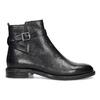 Kožená dámska členková obuv s prackou vagabond, čierna, 514-6140 - 19