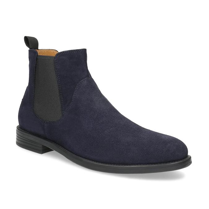 Tmavomodrá kožená pánska Chelsea obuv vagabond, modrá, 813-6153 - 13