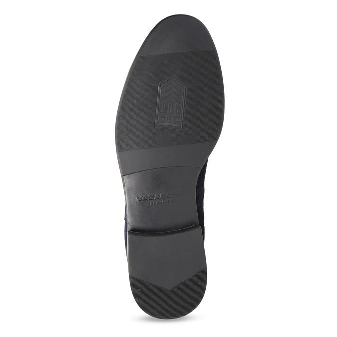 Tmavomodrá kožená pánska Chelsea obuv vagabond, modrá, 813-6153 - 18