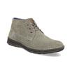 Kožená pánska členková obuv s prešitím bata, šedá, 843-2640 - 13