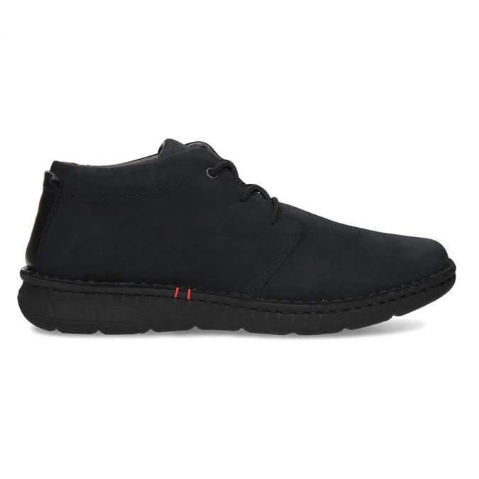 Pánska členková obuv z brúsenej kože bata, čierna, 846-6716 - 19