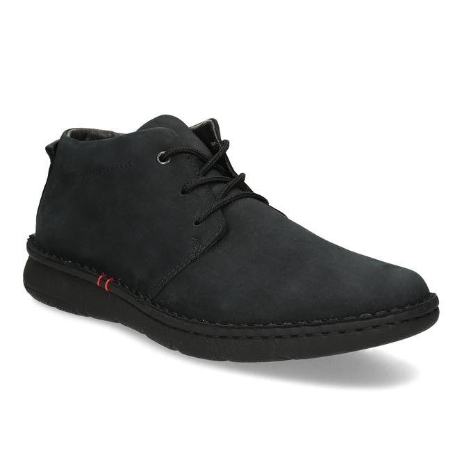 Pánska členková obuv z brúsenej kože bata, čierna, 846-6716 - 13