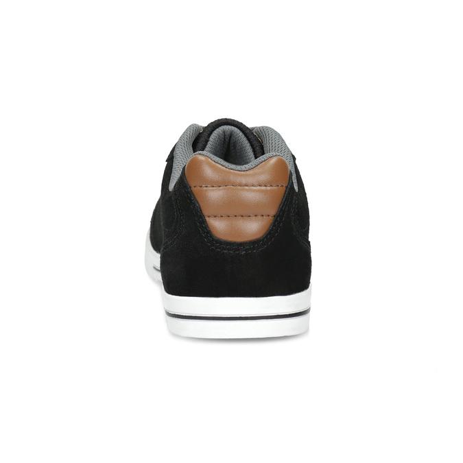 Pánske kožené tenisky s šedivými šnúrkami power, čierna, 803-6174 - 15