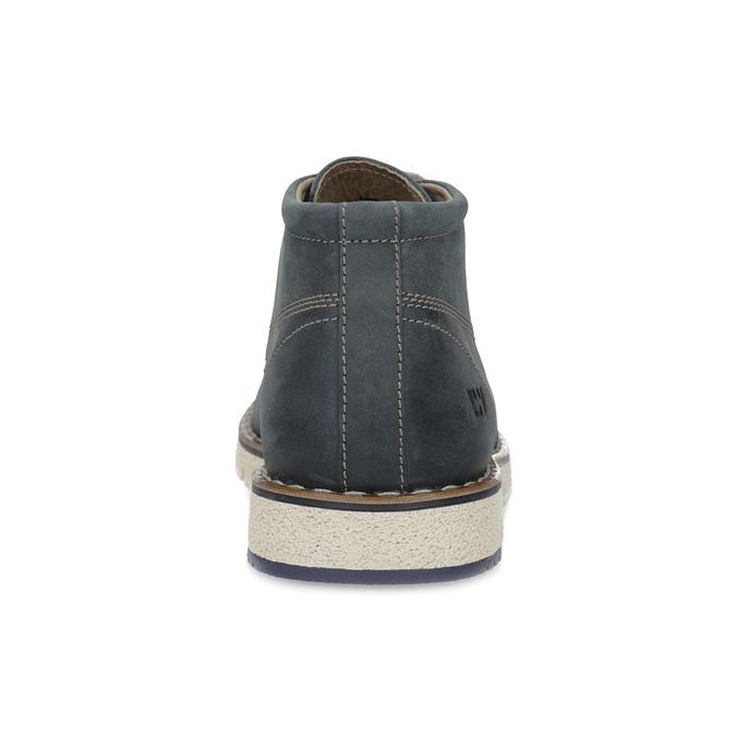 Pánska kožená členková modrá obuv weinbrenner, modrá, 846-9658 - 15