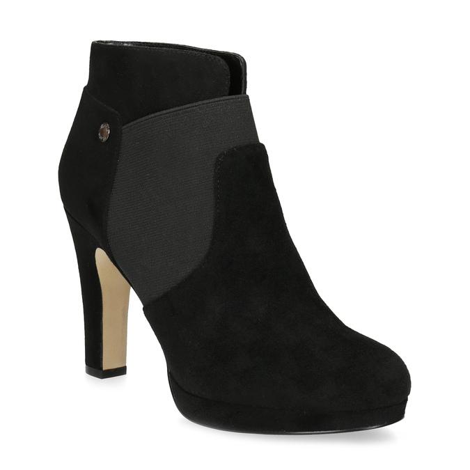 Členkové čierne čižmy na ihličkovom podpätku bata, čierna, 799-6624 - 13