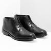 Kožená pánska členková obuv bata, čierna, 824-6893 - 26