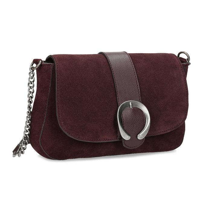 Baťa Vínová kožená Crossbody kabelka s prackou - Malé kabelky  fe222481a11