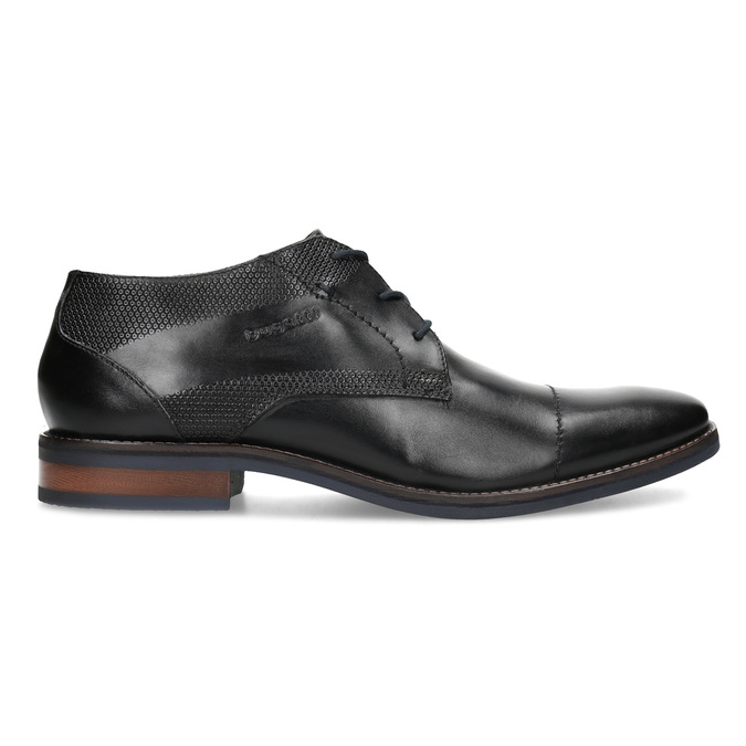 Čierne členkové poltopánky bugatti, čierna, 826-6052 - 19