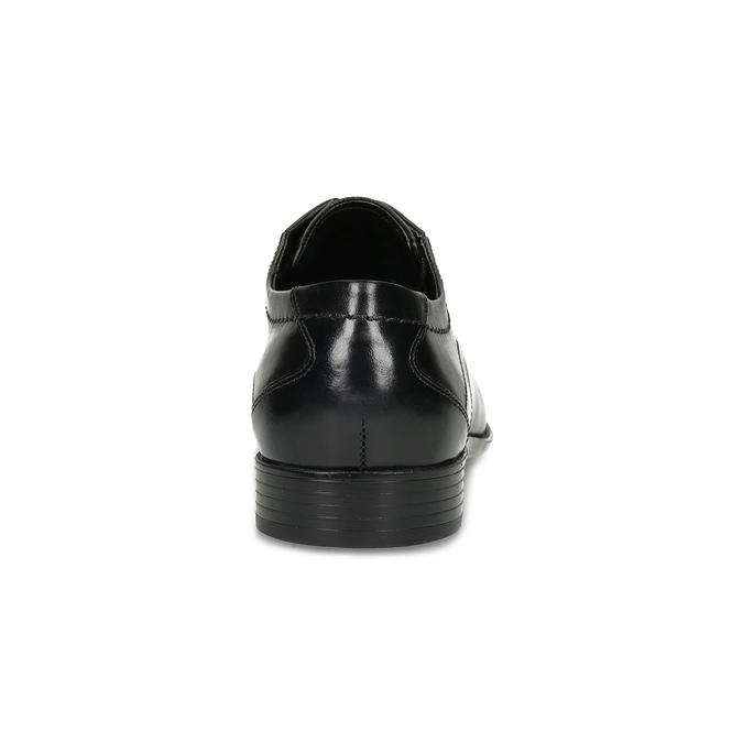 Čierne kožené derby poltopánky bugatti, čierna, 824-6088 - 15
