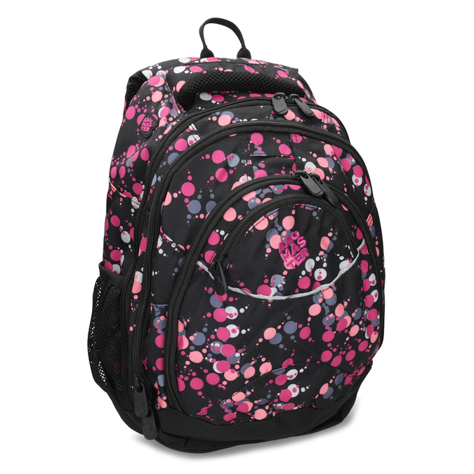 Školský batoh s bodkami bagmaster, ružová, 969-5719 - 13