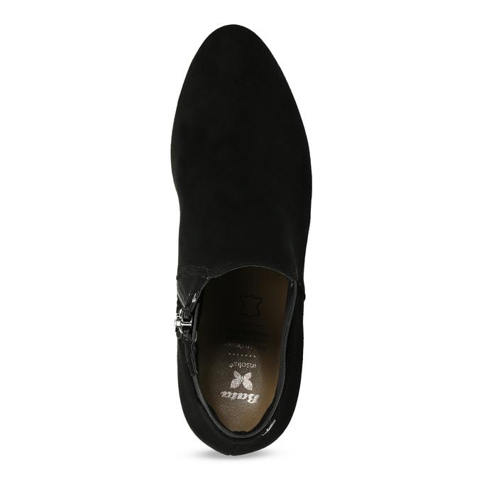 Dámska čierna členková obuv na podpätku bata, čierna, 799-6625 - 17