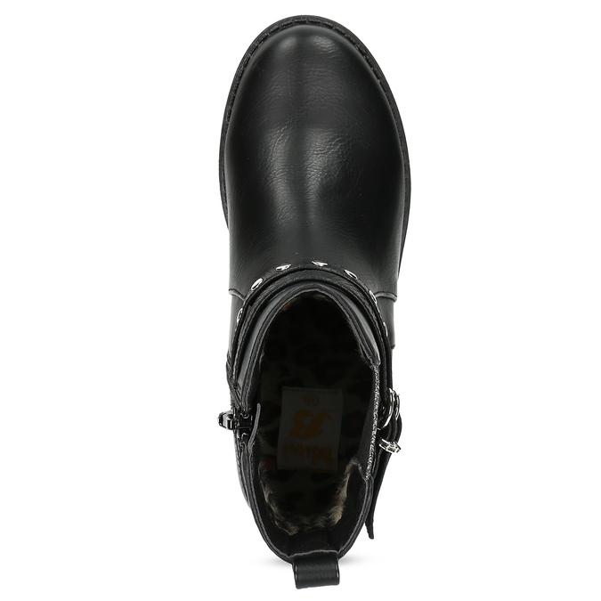Detské členkové čižmy s prackou mini-b, čierna, 321-6621 - 17