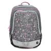 Šedá školská aktovka s ružovými detailami bagmaster, šedá, 969-2716 - 26
