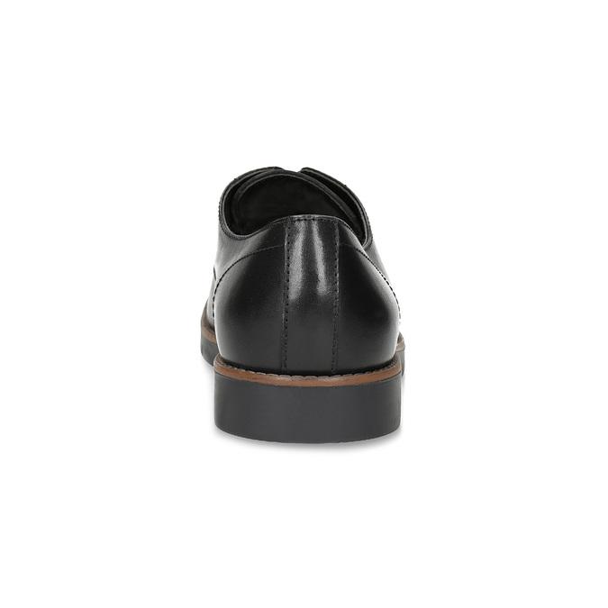 Kožené pánske čierne poltopánky flexible, čierna, 824-6768 - 15
