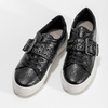 Čierne dámske tenisky s prackou bata-light, čierna, 541-6604 - 16