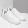 Biele dámske tenisky s perforáciou adidas, biela, 501-1800 - 26