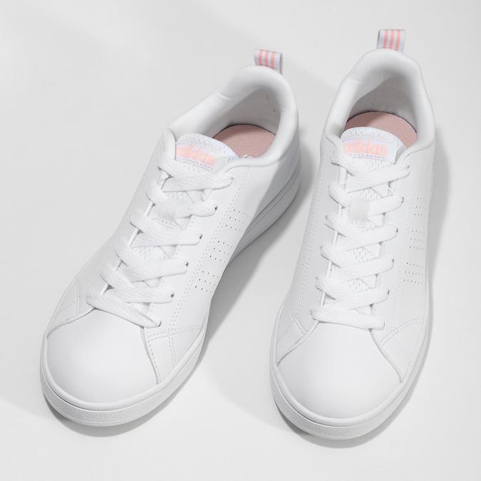 Biele dámske tenisky s perforáciou adidas, biela, 501-1800 - 16