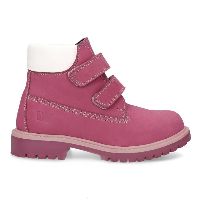 Ružová kožená detská členková obuv weinbrenner, ružová, 226-5201 - 19