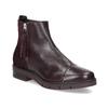 Kožená členková obuv so strapcami flexible, červená, 596-5696 - 13