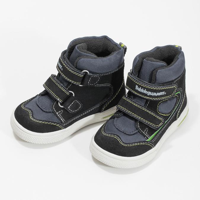 Členková detská obuv na suché zipsy bubblegummers, modrá, 113-9610 - 16