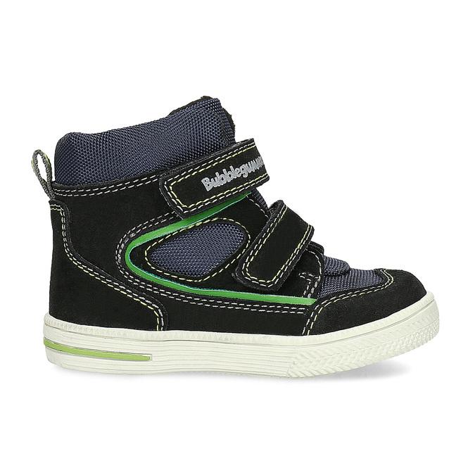 Členková detská obuv na suché zipsy bubblegummers, modrá, 113-9610 - 19