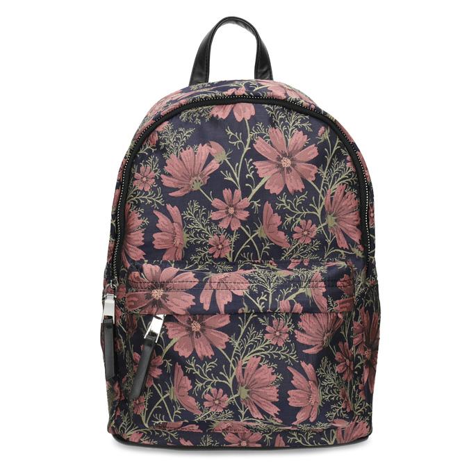 Batoh s kvetinovým vzorom bata, viacfarebné, 969-0703 - 26