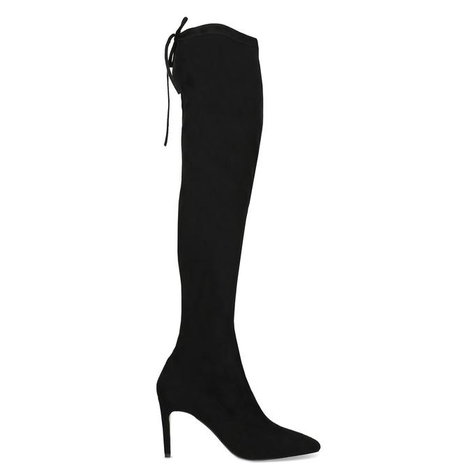 Čierne dámske čižmy nad kolená bata, čierna, 799-6621 - 19
